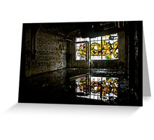 Illicit Inscriptions Reflection Greeting Card