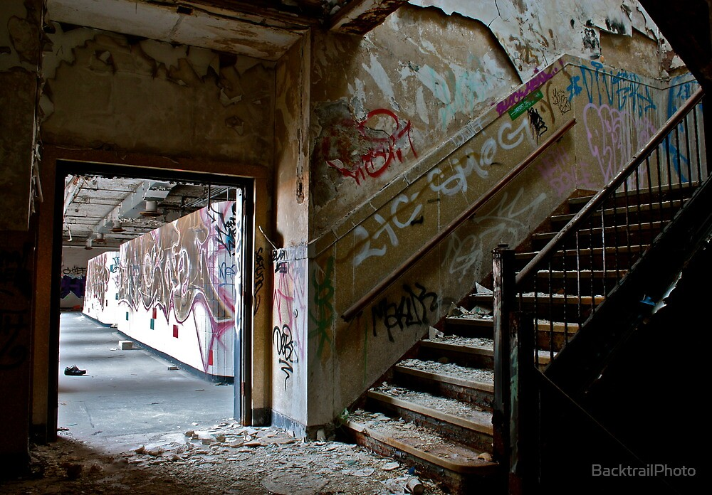 Illicit Inscriptions Staircase by BacktrailPhoto