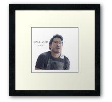 HUGE NERD Framed Print