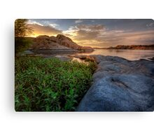 Curved Sunset Canvas Print