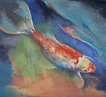 Coral and Moonstone by Michael Creese