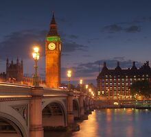 Big Ben at night. by Chad Kruger