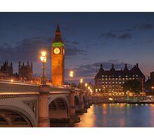 Big Ben at night. Photographic Print