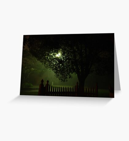 Midnight streetscape Greeting Card