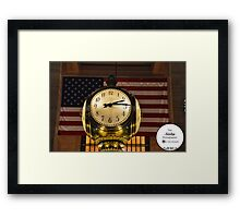 Clock known round the world Framed Print