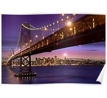 The SF Bay Bridge at Twilight Poster