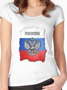 Russian Coat Of Arms Women's Fitted Scoop T-Shirt