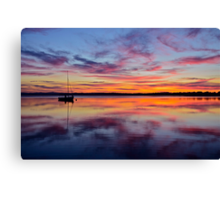 Sunset on the lake. 30-7-11. Canvas Print