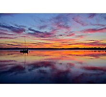 Sunset on the lake. 30-7-11. Photographic Print