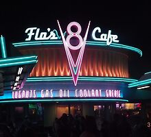 Flo's V8 Cafe - Disneyland CA by pjwilliams12