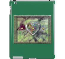 Flowers, Lace and a Silver-Rainbow Heart iPad Case/Skin