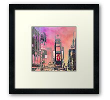 City-Art NY Times Square Framed Print
