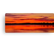 Winter Sunset. 30-7-11. Canvas Print