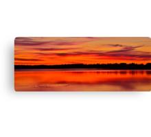 Winter Sunset. 30-7-11. Canvas Print