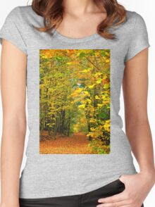 PATH TO AUTUMN COLOURS Women's Fitted Scoop T-Shirt