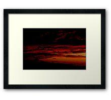 Sunset - Melbourne - 2011 Framed Print