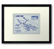 Star Trek U.S.S. Enterprise Framed Print