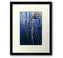 Boat Reflections Framed Print