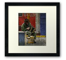 The Musician - Perth CBD - Western Australia Framed Print