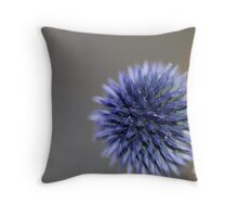 Blue Globe Thistle III Throw Pillow