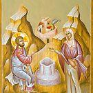 Christ and the Samarita Woman (St Photini) by ikonographics