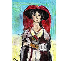 Lady With Red Feather Hat(after Lawrence) Photographic Print
