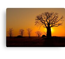 Sunset on Derby Mud Flats Canvas Print