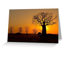 Sunset on Derby Mud Flats Greeting Card