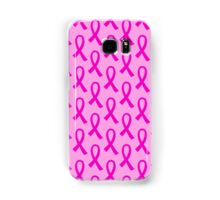 Breast Cancer Hot Pink Ribbon Pattern Samsung Galaxy Case/Skin