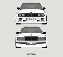 Mercedes-Benz 190E 2 3-16 vs E30 BMW M3 T-Shirt