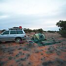 Campsite Hay River Track, Simpson Desert, NT by Richard  Windeyer