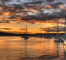 Sunset Moorings - Newport,Sydney Australia - The HDR Experience by Philip Johnson