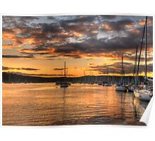 Sunset Moorings - Newport,Sydney Australia - The HDR Experience Poster