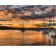 Sunset Moorings - Newport,Sydney Australia - The HDR Experience Photographic Print