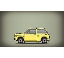Honda N360 Yellow Kei Car Photographic Print