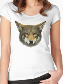 Wolf face Women's Fitted Scoop T-Shirt