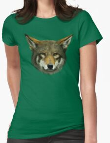 Wolf face Womens Fitted T-Shirt
