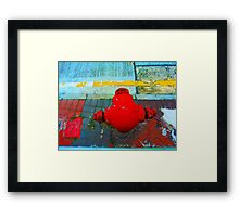 Red Hydrant Head Framed Print