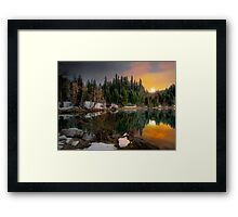 Just A Touch Of Light ~Trail Bridge Reservoir ~ Framed Print