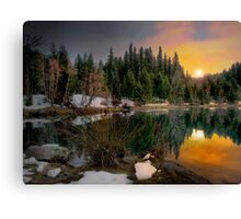 Just A Touch Of Light ~Trail Bridge Reservoir ~ Canvas Print
