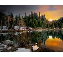 Just A Touch Of Light ~Trail Bridge Reservoir ~ Photographic Print