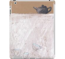 Black tea pot and three cups iPad Case/Skin
