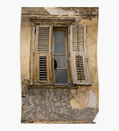 Battered Window Poster