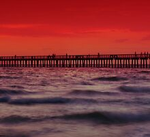 Sunset at Naples Pier by Melanie Viola