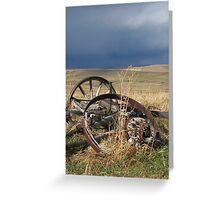 Stormy Wheels Greeting Card
