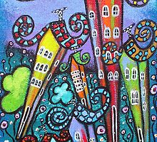 Rainbow Cottages by Juli Cady Ryan