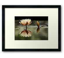 Soft Island Above Water Framed Print