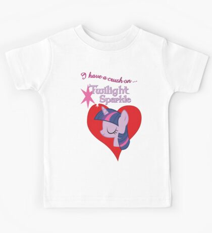 I have a crush on... Twilight Sparkle - with text Kids Clothes
