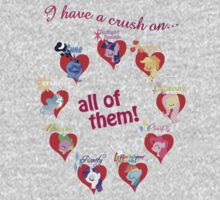 I have a crush on... all of them! Kids Tee