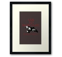 Aim to Misbehave Black and White Framed Print